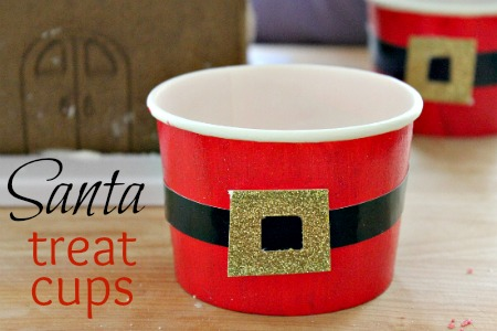 Crafting with Kids: Santa Belt Treat Cups – Multiples and More
