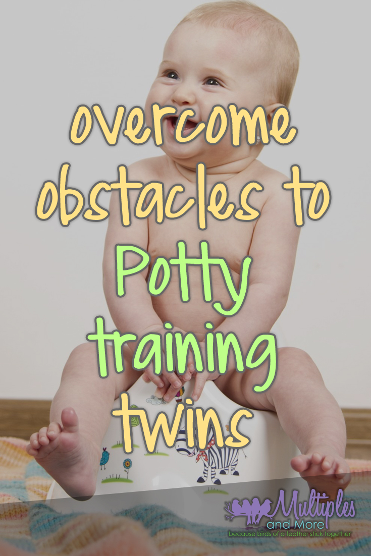 Overcome obstacles to potty training twins