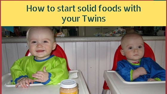 How to start solid foods with your twins