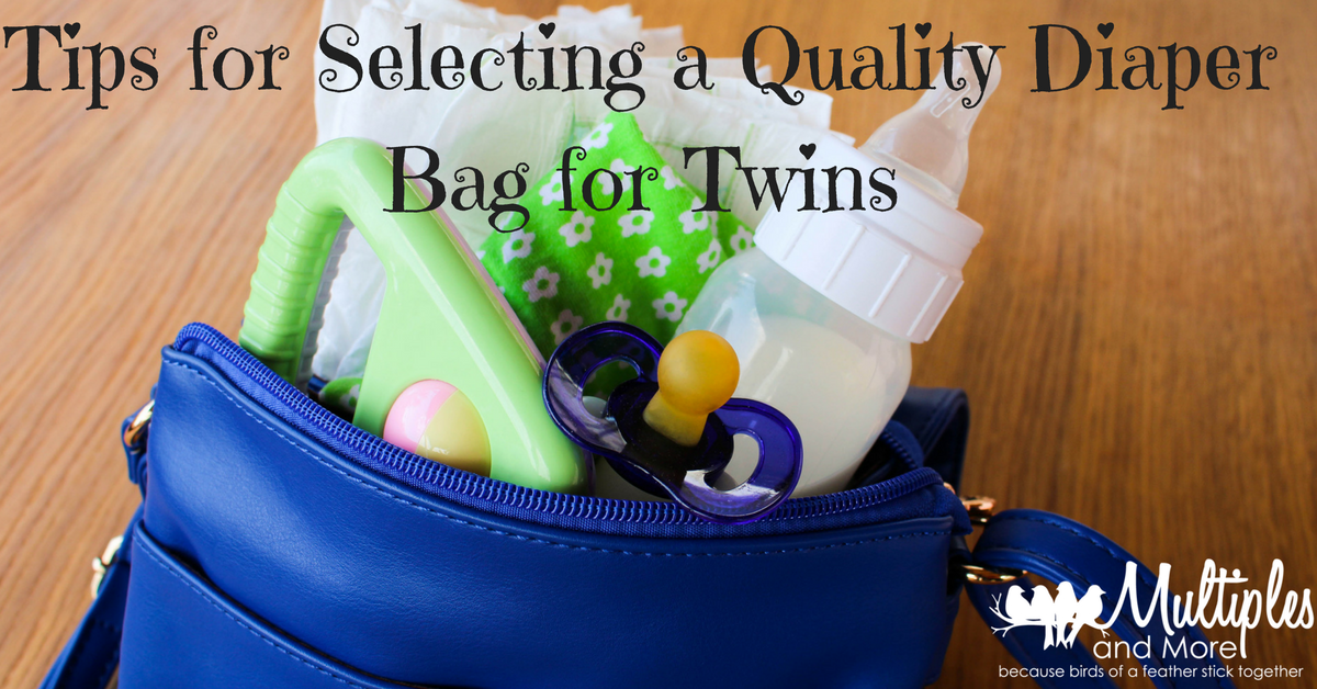 tips for selecting a quality diaper bag for twins multiples and more. Black Bedroom Furniture Sets. Home Design Ideas