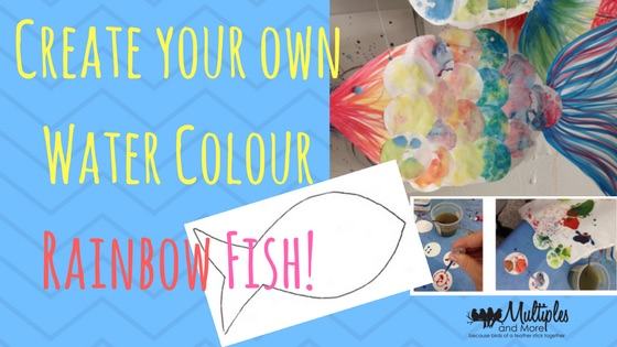 Create your own Water Colour Rainbow Fish!