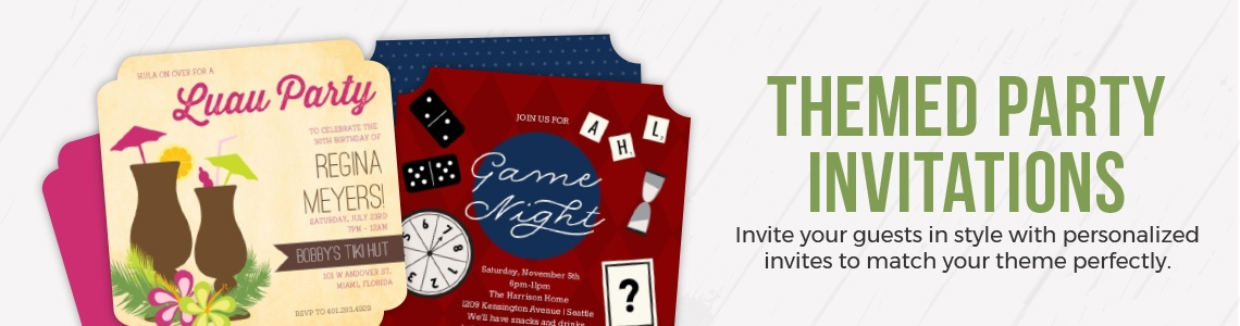 themed party invitations