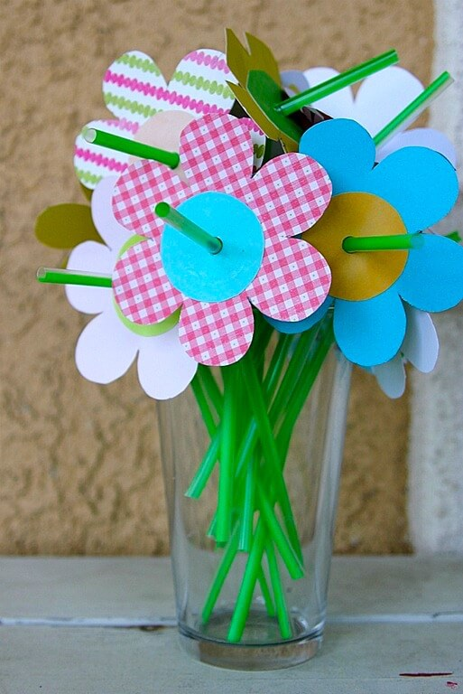 Flower Straws - Crafting with Kids