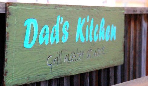 Dads Kitchen Sign