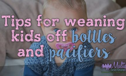 Tips for weaning kids of bottles and pacifiers