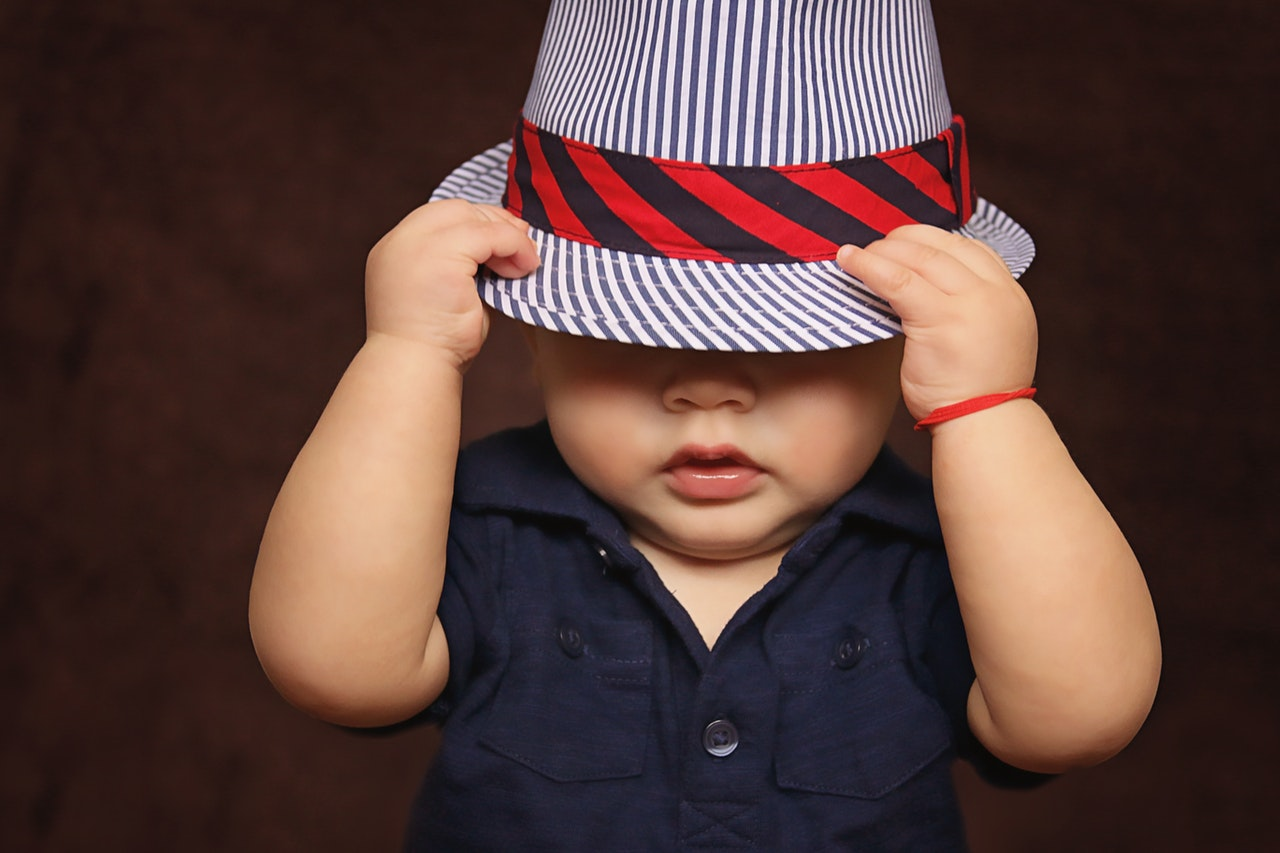 Toddler with Hat
