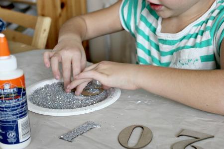 new year headband craft for kids - step 2