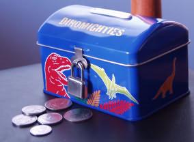 dinosaur piggy bank