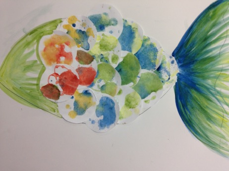 Create your Own Water Colour Rainbow Fish