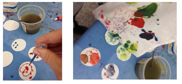 fun watercolor fish craft - step 2