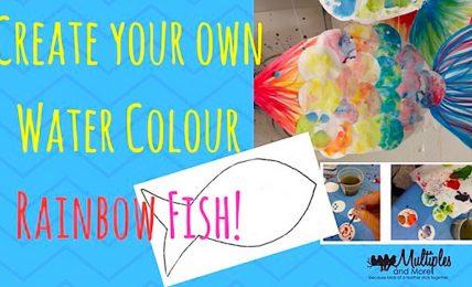 Fun Watercolor Fish Craft