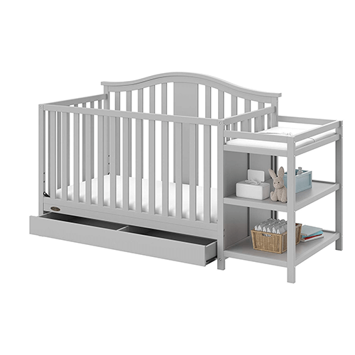 Graco Solano 4-in-1 Convertible Crib with Drawer - Gray
