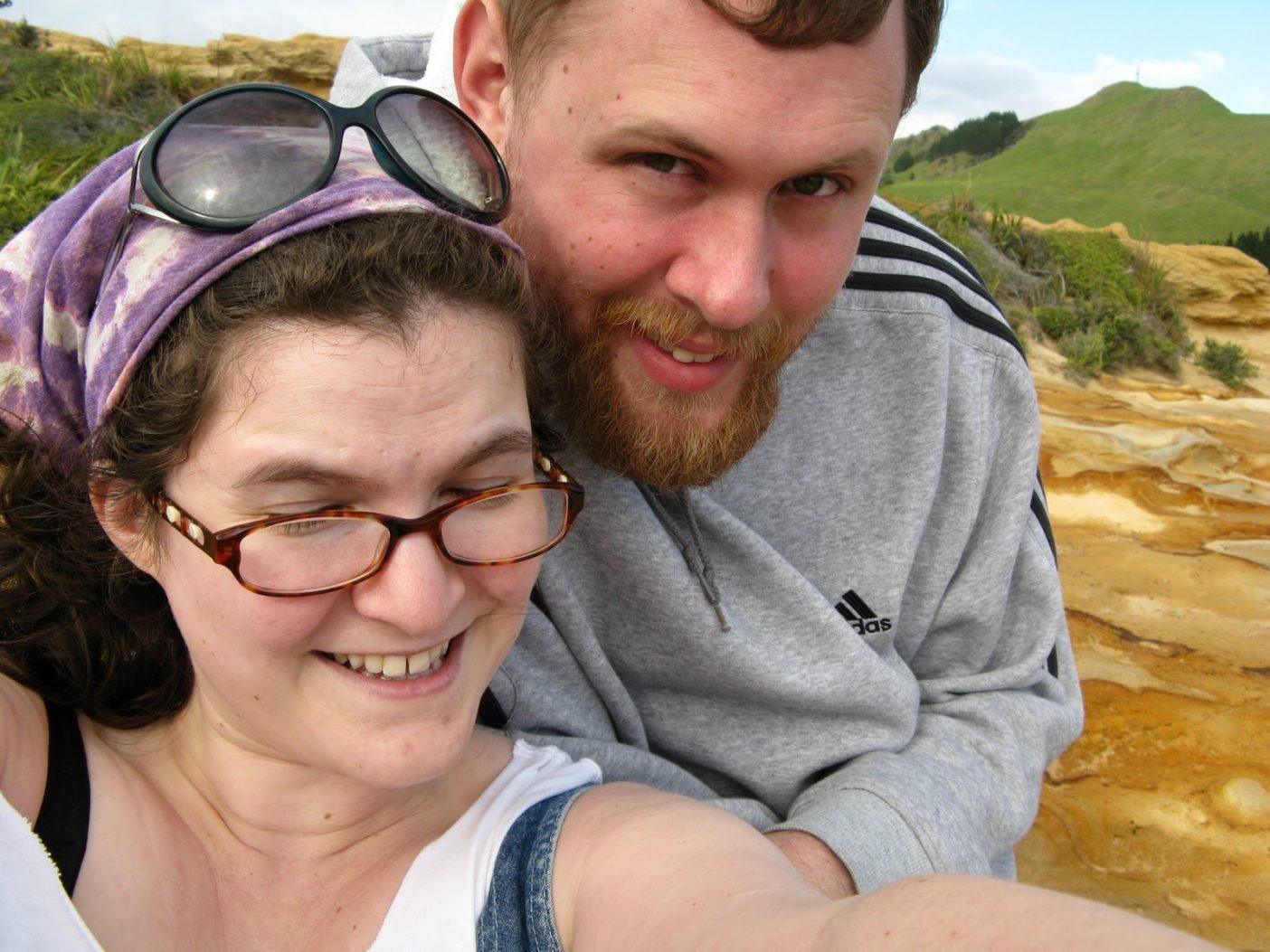 Me and M at Hokianga Harbor