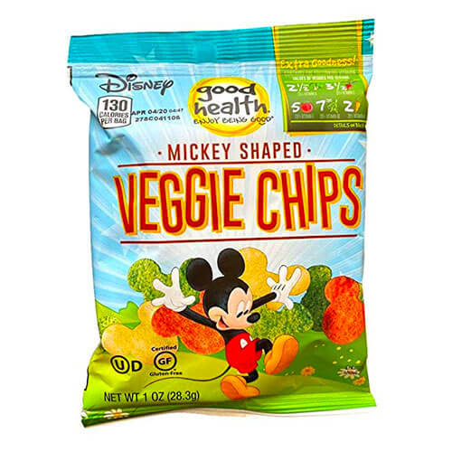 Good health disney mickey mouse shaped veggie chips