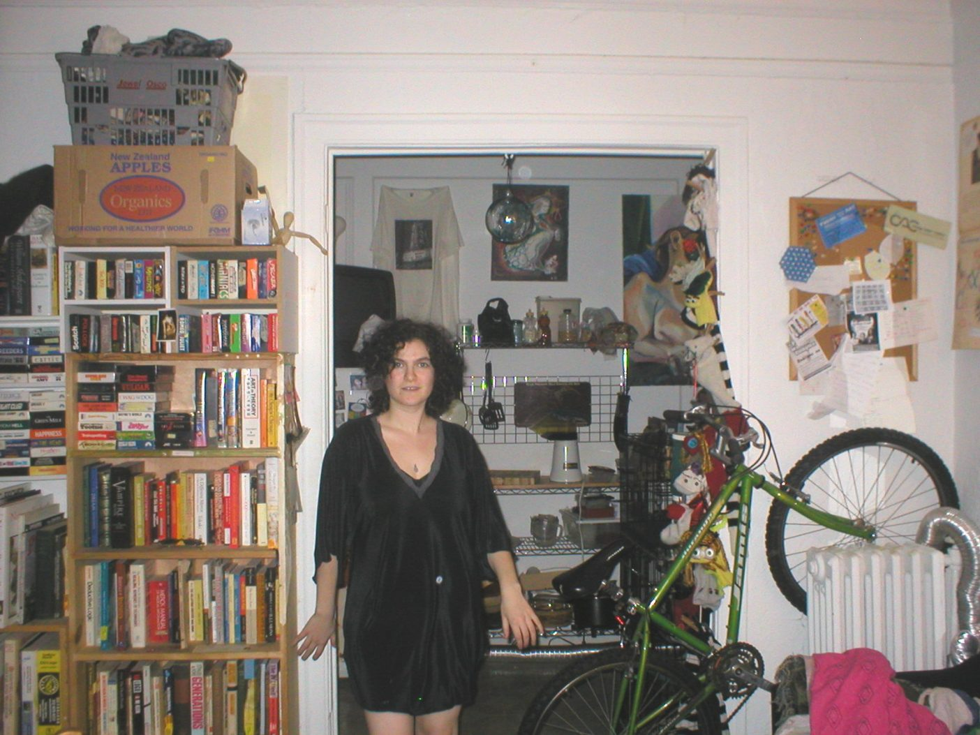 Me in my studio- note the real-life Tetris