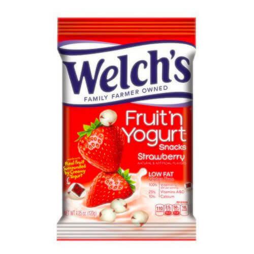 Welch fruit n yogurt snacks pouches