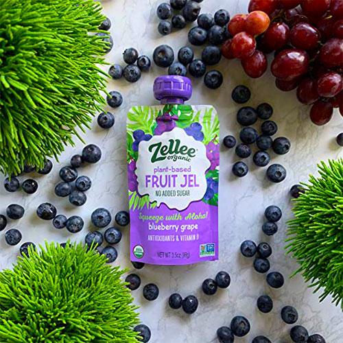 Zellee organic fruit jel pouches