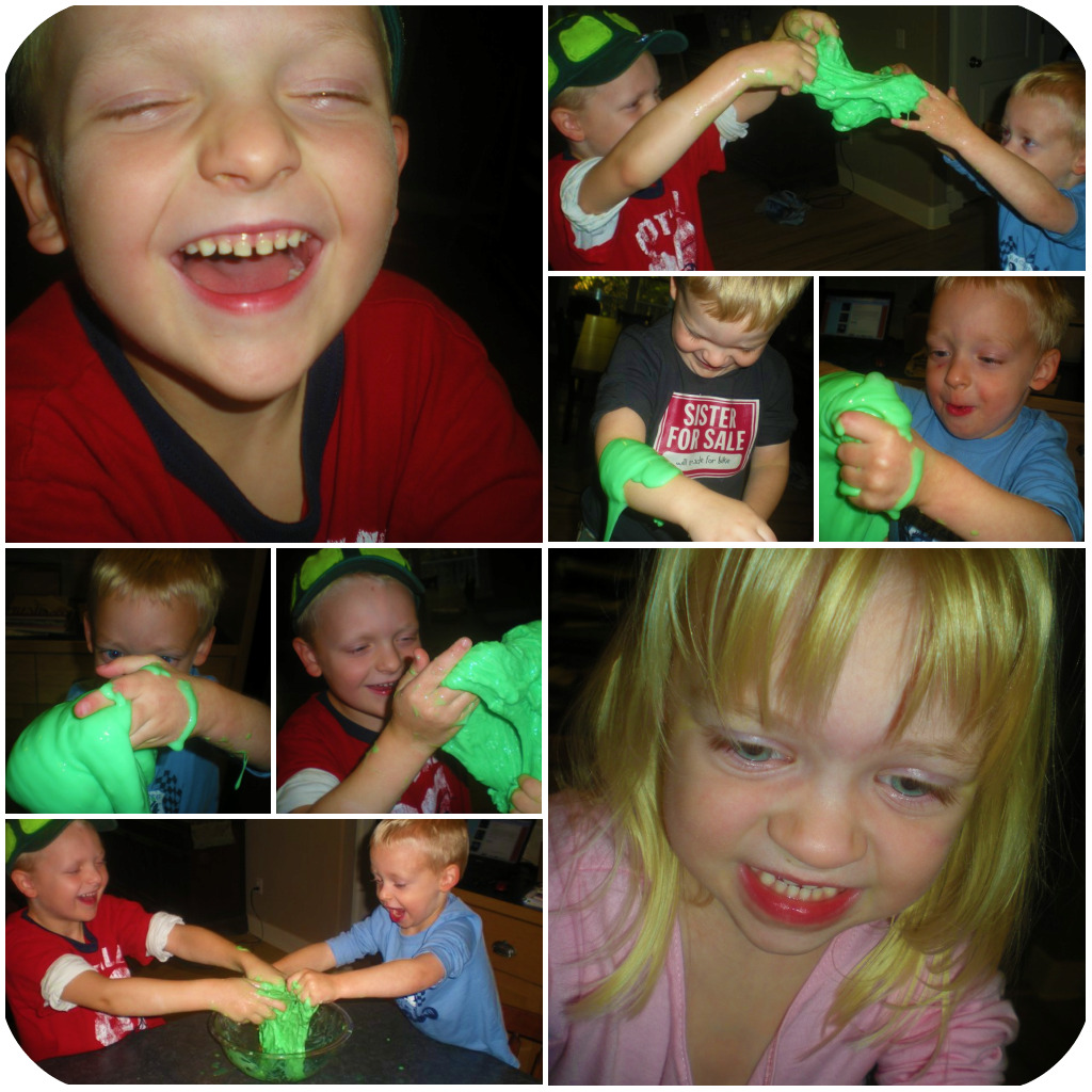 Making Slime collage